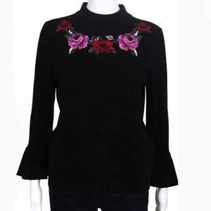 kate spade Sweaters - Kate Spade Madison Ave Embroidered Blossom Sweater